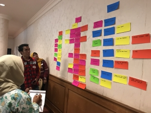 Participants put a list of evidence they think should be collected based on the claims they identified.